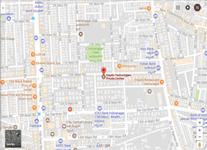 Clayfin - Bangalore Office Map
