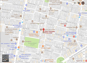 Clayfin - Chennai Office Map