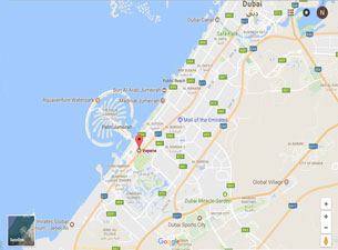 Clayfin - UAE Office Map