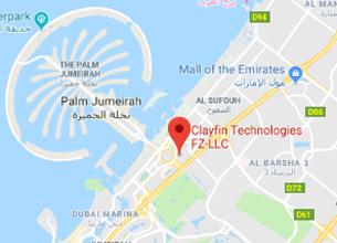 Clayfin - UAE Office Map